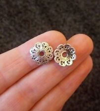 Pack of 20 Antique Silver Flower Bead Caps 12mm Fits 18-22 mm Beads