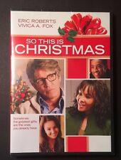 So This Is Christmas (DVD, 2013) Eric Roberts, Vivica A. Fox, Lexi Ainsworth