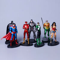 7pcs DC Justice League Superman Batman Flash Green Lantern Cyborg Action Figure