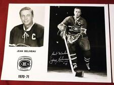Rare 1970-71 Montreal Canadiens Signed Media Photo Set of 22 Beliveau Richard!