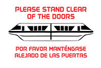 Disney Monorail shirt Please Stand Clear of the Doors Por Favor vacation t-shirt
