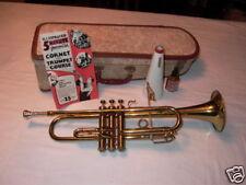 FIDELITY 987B Trumpet, Case & 5 Minute Trumpet Manual