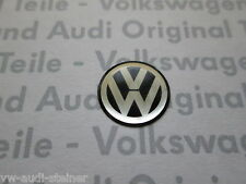Volkswagen Original VW Schlüsselemblem ZV Schlüssel Emblem schwarz silber 10mm