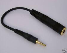 "Cable Adapter Female 1/4"" to Male 1/8"" mini Plug fit SENNHEISER GRADO Headphones"