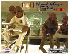 Tim Rose Admiral Ackbar Star Wars Return Jedi Autograph 8x10 Photo PSA DNA COA