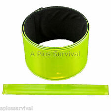 Green Reflective Safety Arm Wrist Band for High Visibility Construction Traffic