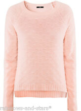 New H&M ski campaign pink fluffy angora jumper sweater top Large 14 - 16