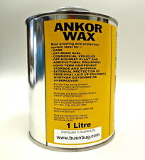 Ankor Wax Rust Proofing and Patina Protection System. 1 litre