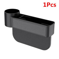 ABS Carbon Fiber Car Truck Seat Gap Pocket Stowing Box Drink Holder Organizer