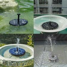 Solar Panel Power Fountain Water Pump Tool For Fish Tank Garden Small Pool Pond