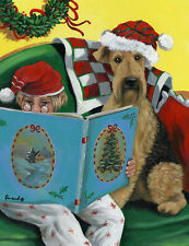 """Precious Pet Garden Flag - Airedale Terrier Storybook 12"""" x 18"""" ~ Charity!"""