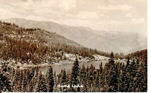 Hume Lake CA Sequoia National Forest Real Photo Postcard 1930s
