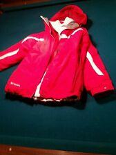 Columbia Vertex Interchange Jacket core Fleece Coat Red Womens M medium