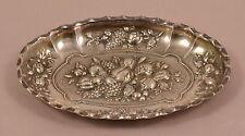 PRACHT Zier Schälchen 800 Silber WIEN Obstverzierung Handarbeit vergoldet