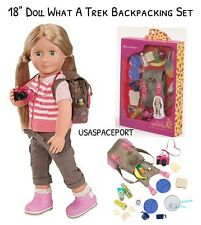 "18"" Doll HIKING Camping SET 4 Our Generation American Girl What A Trek Backpack"