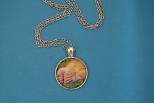 COUNTRY HORSE  Cabochon PENDANT -  NECKLACE  New!  Jewelry  USA!!!  Rural Equine