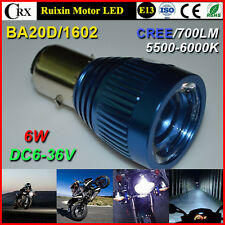 H4 BA20D H6M 6 W 6000K Motocicleta Bicicleta H/L Bi-Xenon LED Faro Bombilla de luz blanca