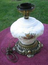 Vintage EF & EF Industries Working Rose Design GWTW Embossed Table Lamp #5371~px
