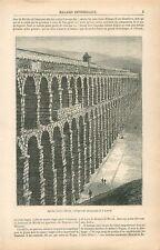 Aqueduc Romain Mérida à Badajoz Estrémadure Espagne GRAVURE ANTIQUE PRINT 1878