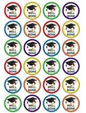30 PRE-CUT WELL DONE GRADUATION CUP CAKE EDIBLE RICE WAFER PAPER TOPPERS