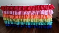 Rainbow Themed Waterfall Tablecloth perfect for Birthday Parties