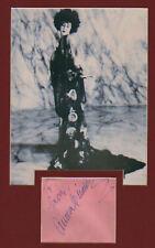 AURORA MIRANDA { CARMENS sister} signed paper + pic in display. UACC RD retiring