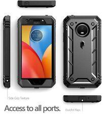 "For Motorola Moto E4 Plus Case Poetic ""Shockproof"" TPU Cover-【Revolution】Black"