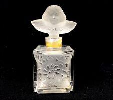 1948 INDIGO Dorothy Gray France Frosted Glass Perfume Bottle Angel Cherub Rare