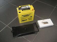 ORIGINALE MOTOBATT Power-Batteria 19ah + COPERCHIO DELLA BATTERIA SUZUKI vs1400 INTRUDER