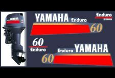 YAMAHA ENDURO 60 HP OUTBOARD MOTOR  - REPLACEMENT DECALS COVER - GRAPHICS KIT