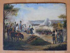 Vecchio dipinto, battaglia di Novara, Italia settentrionale, datata 1849