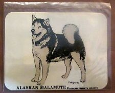Vintage Alaskan Malamute Husky Dog Decal Sticker 1973 Larklain