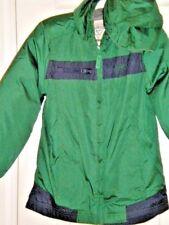 NWT Boys OshKosk, SZ 7, Coat,  Green/ Navy Accents, Fully lined, Hood, Zipper