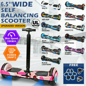 "6.5"" W/ handle Hoverboard Scooter Self Balancing Electric Skateboard Hover Board"