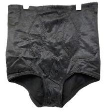 Vintage Flexees High Waisted Panty Brief Tummy Control Shaper Black Size XL