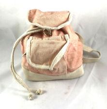 Festival Rucksack Tasche Kinderrucksack Stoffrucksack rosa beige