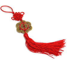 FENG SHUI 8 Coins Tassel Red Hanging Cure Good Fortune Luck Wealth Prosperity ♫