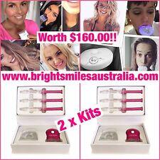 2 x Pink Teeth Whitening Kits GENUINE BRIGHTSMILES AUSTRALIA Don't Buy A Fake!!