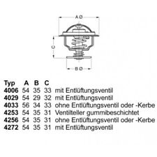 WAHLER Thermostat, coolant 4256.80D