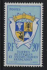 Fr South & Antarctic 1959 20F Coat of Arms Sc# 15 mint