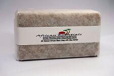 All Natural African Black Soap w/ Shea Butter Organic & Lemon Oil 4 oz (GHANA)