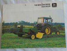 John Deere 332A Baler brochure Sep 1980 English text