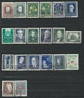 Autriche Lot 20 timbres Obl (FU) 1947 - 56 (lot 8)