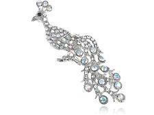 Fully Aurora Borealis Alloy Crystal Rhinestone Peacock Fashion Pin Brooch Gifts