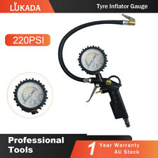 Air Tyre Inflator Pressure Meter Tire Pump Hose Gauge Compressor Tools Car Truck