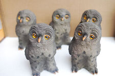 1-Set of 5-Resin Owl Figurine Statues from J.T.S. International (NEW) (#S6729)