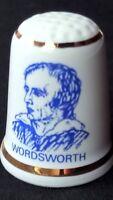 WILLIAM WORDSWORTH POET 1770-1850 WINDERMERE FINE BONE CHINA SOUVENIR THIMBLE