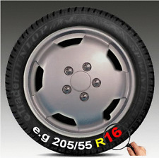 "4 x Mercedes Van 16"" Wheel Trims Silver Deep Dish Hub Caps Single Rear Wheel"