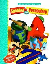 Houghton Mifflin Spelling & Vocabulary Grade Level 1 Phonics in Action Workbook
