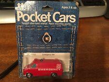 Tomy Tomica 1977 Pocket Cars #207-F22 Chevrolet Chevyvan Emergency Van - Sealed